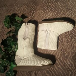 SO DENVER WINTER KNITTED ROLLED BOOT SIZE 8